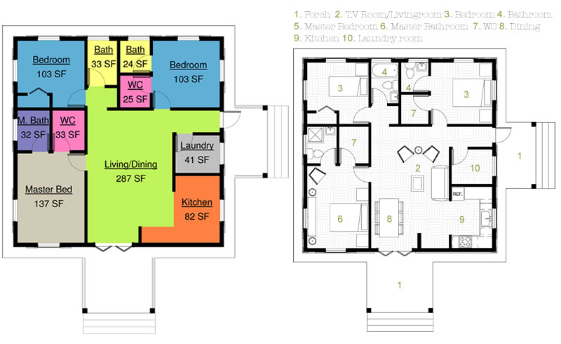 30 x 30 house plans 30 x 30 vastu home 004 for 30x30 floor plans